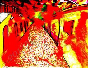 Juarez Burns, Watercolor/Ink. Marie Chapin, 2013.