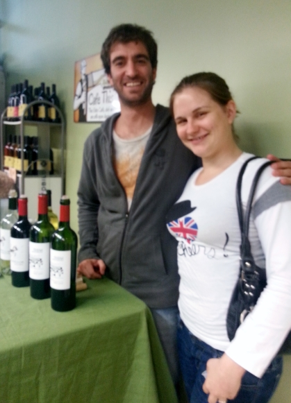 Our friend from Ernesto Catena Vineyards enjoying Marie's company. Or other way around...