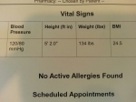 Despite my mental health, I'm at my best physical health EVER! Check out that BMI.