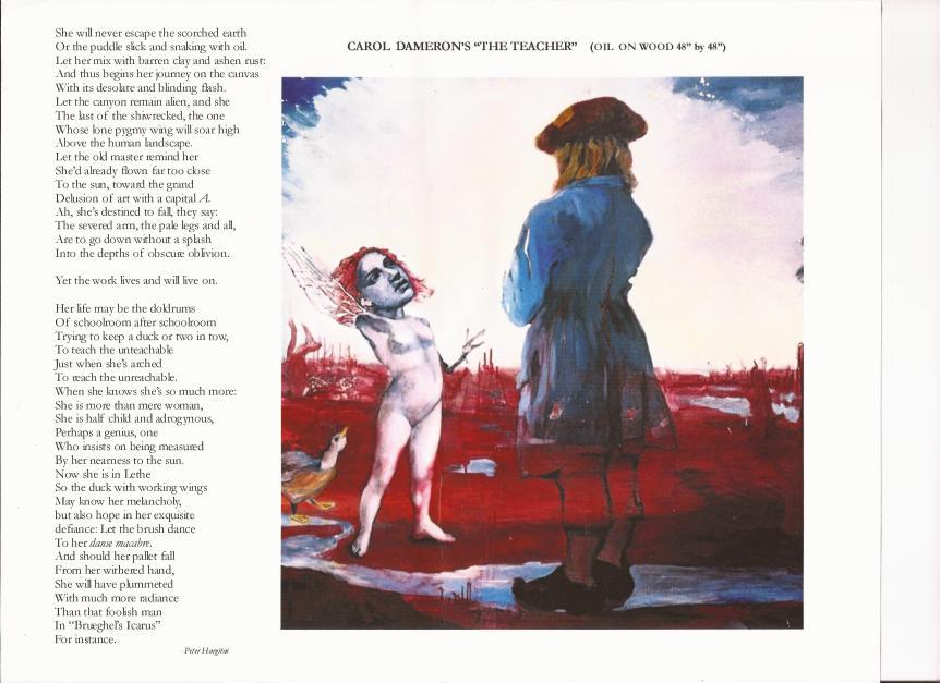 Hargitai wrote this poem in reaction to Dameron's surrealist piece.
