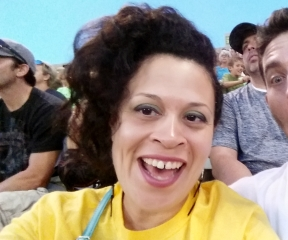 Behind me sat two fledging sports commentators. Adorable until they started SCREECHING.