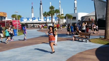 Visiting the Kennedy Space Center, Cape Canaveral FL. A prebirthday gift from my great former neighbors who I regard as my grandparents.