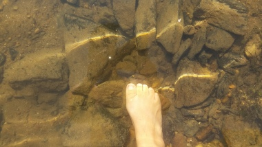 Mountain river water - clear, cool and fresh!