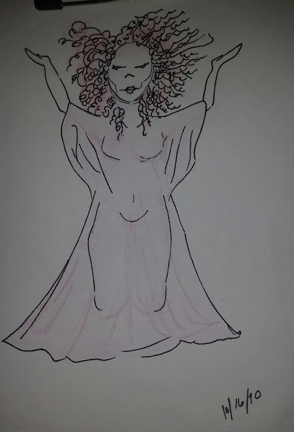 Purple Woman 2010. She's fiery, yet genuflecting, as if surrendering to...a higher power?