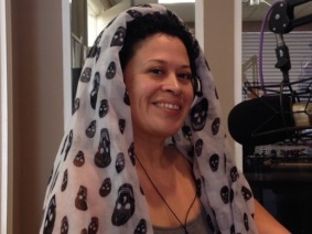 So proud to invoke the Goddess for the listening audience. Nice scarf, right?